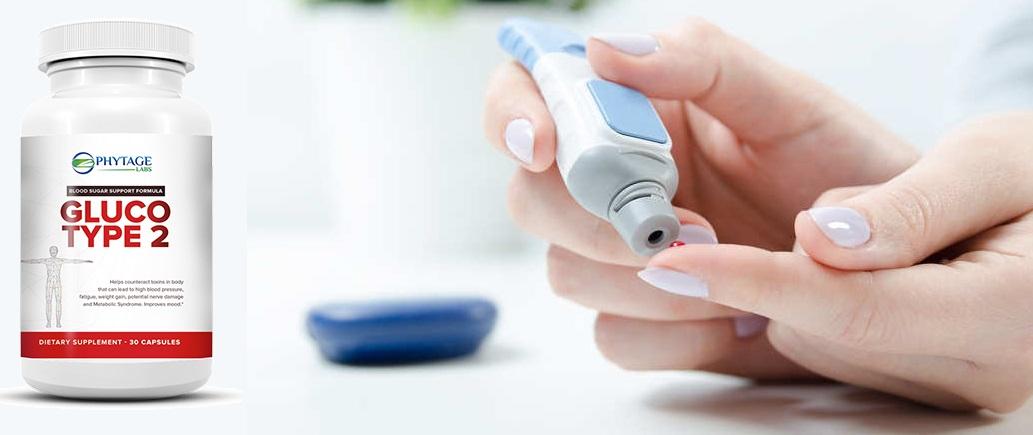 GlucoType 2 - effets rapides, efficacité garantie. Renforcement de l'érection